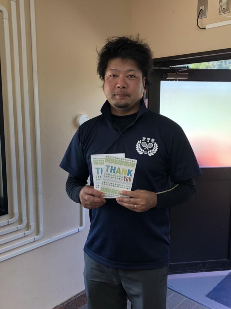 2019.12.15 第26回シングルス(年代別)50歳未満優勝 生島大輔