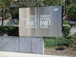 カナダ国立バレエ―看板