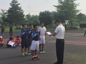 表彰式17 県中学総体-