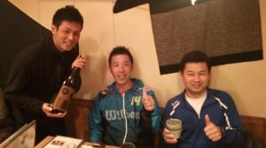 ミナミ草津にて(左から米澤C・吉田C・剛C)