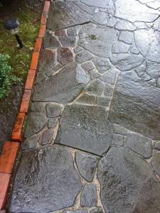 石畳使用後