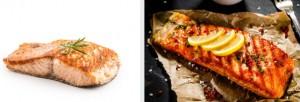 午餐吃種子和鮭魚
