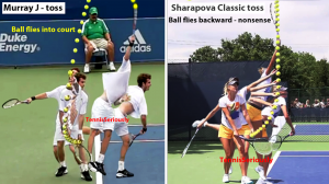 Murray & Sharapova Straight arm rotation J & Classic toss comparison1