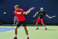 Stanislas Wawrinka Rafael Nadal Practice