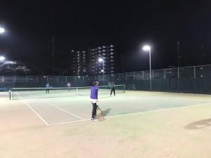 ナイターの下で【佐藤直子のテニスがすべて】