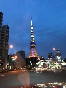 オリンピックカラーの東京タワー【佐藤直子のテニスがすべて】