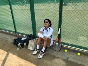 あまりの暑さに【佐藤直子のテニスがすべて】