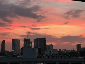 昨晩の夕焼け【佐藤直子のテニスがすべて】