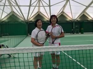 母と練習【佐藤直子のテニスがすべて】