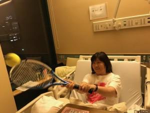 入院中もテニス練【佐藤直子のテニスがすべて】