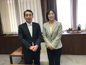 不嶋豊和市長表敬訪問【佐藤直子のテニスがすべて】