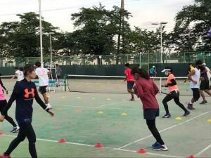 テニス部練習【佐藤直子のテニスがすべて】