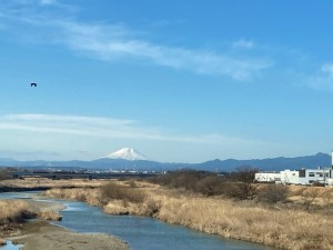 入間川から見えた富士山【佐藤直子のテニスがすべて】