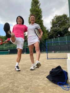 大先輩と練習【佐藤直子のテニスがすべて】