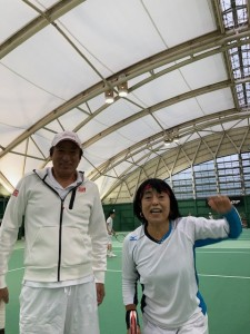 室内で練習【佐藤直子のテニスがすべて】