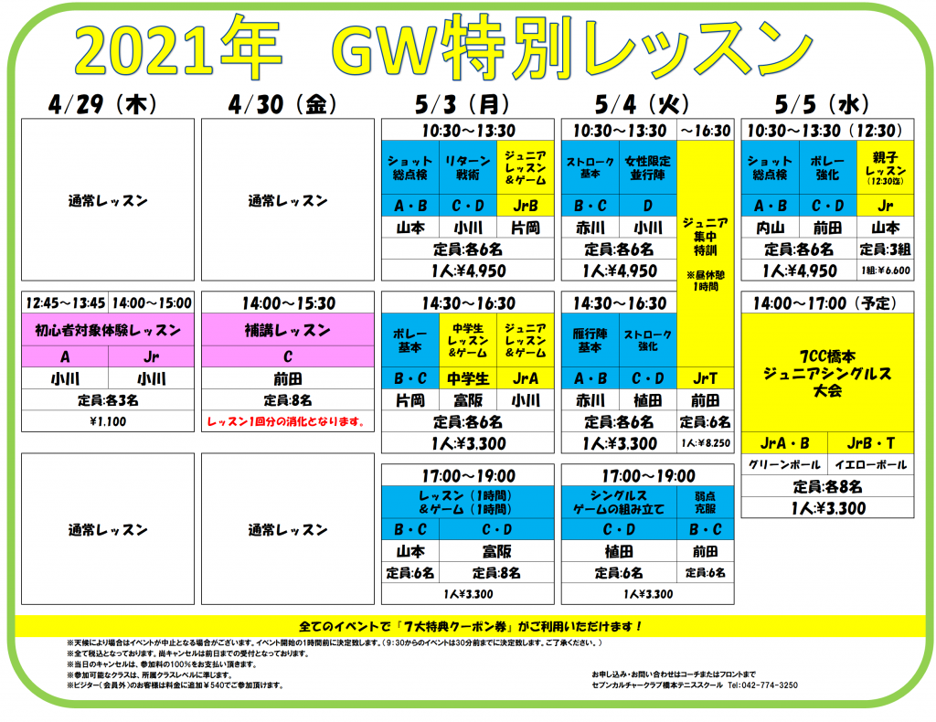 2021橋本GW